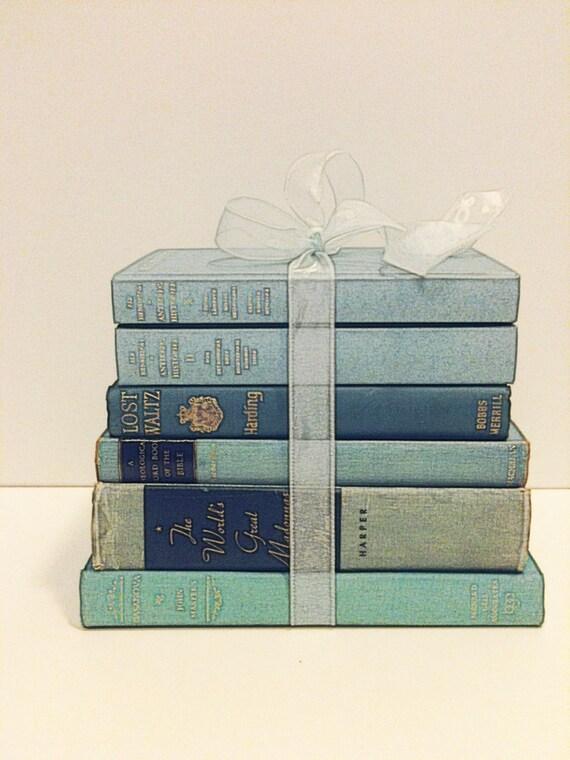 Book,Under 50 Dollars,Christmas Gift,Vintage,Decorating,Blue Wedding ...
