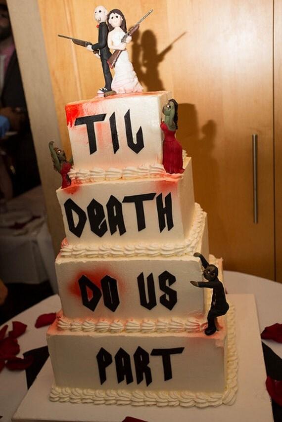 Zombie Themed Wedding Cake Topper