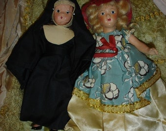 2 Storybook Type Dolls 1 Composition and 1 Bisque