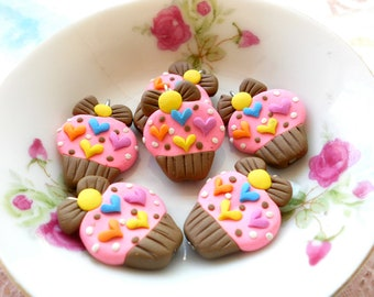 Cupcake Cabochon Series - Chocolate Strawberry sweet
