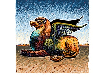 "The Griffin- 8"" x 10"" Mythological Beast Wall Decor"