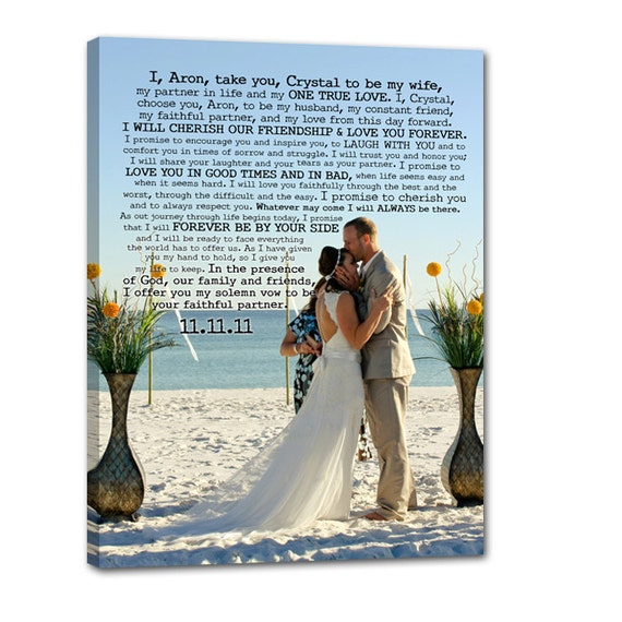 Wedding Gift Canvas Art : ... Glam Photo Canvas Art Wedding Gift Use Vows and Lyrics Word Art 18X24