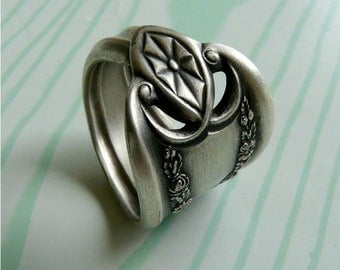 Silver Spoon Ring, Old Colony