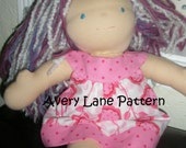 Amanda Dress and Top Boutique doll Pattern  Avery Lane Designs 15 inch size doll  PDF Pattern instant download