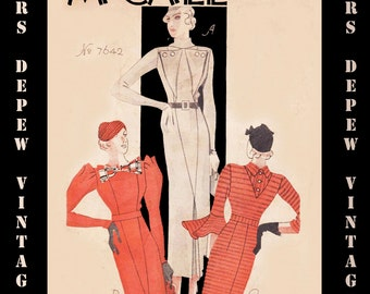 Vintage Pattern Catalog Booklet McCall Style News January 1934 PDF Digital Copy -INSTANT DOWNLOAD-