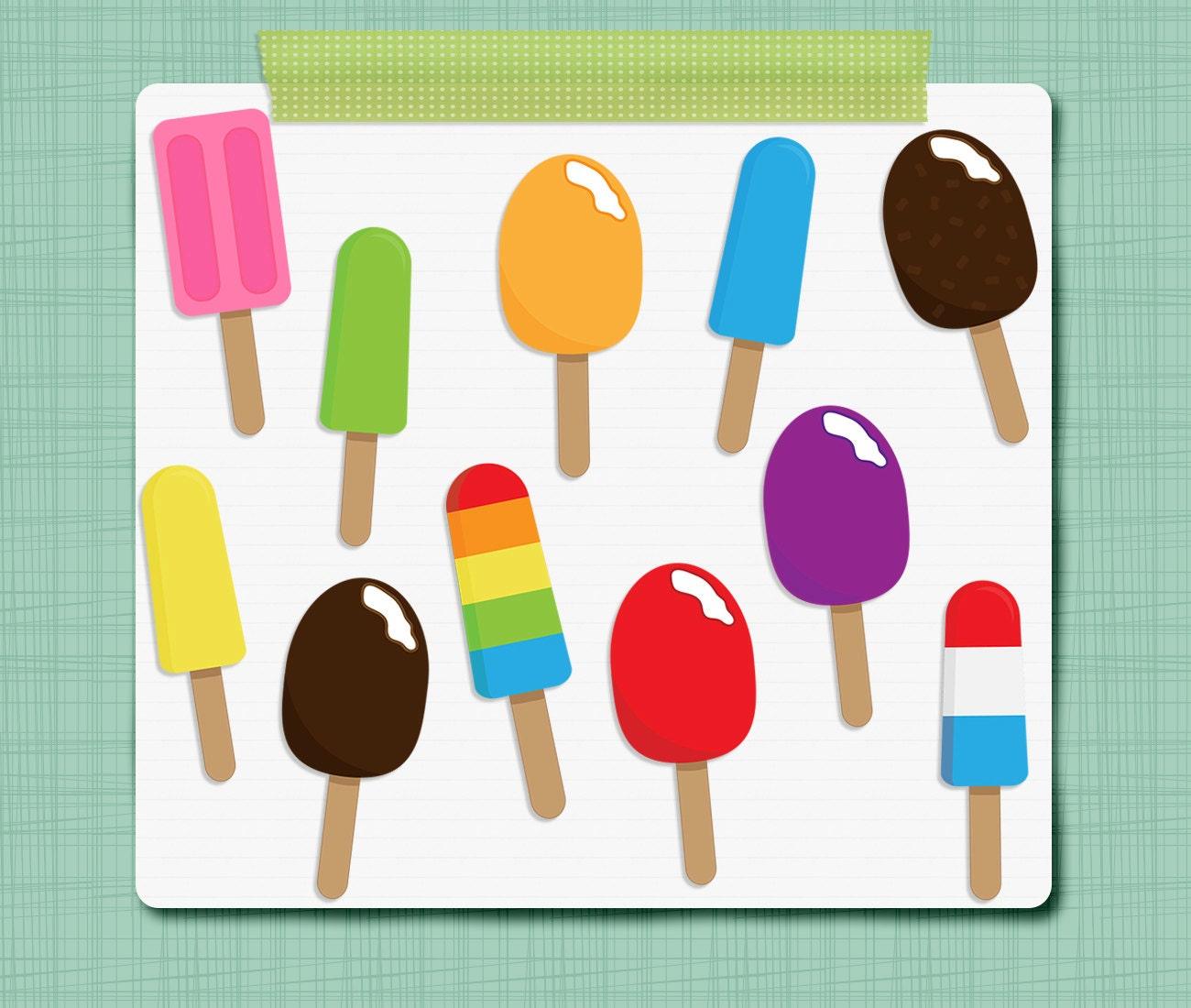 Ice Pop Clip Art Ice Cream Clipart Summer Clipart Digital