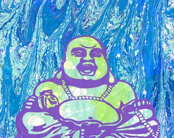 "Laughing Buddha 8.5""x11"" giclee print"