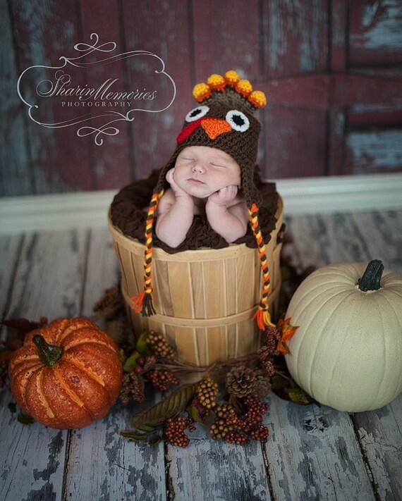Custom Crochet Turkey Hat