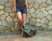 Sale 25%-Olive messenger bag,unisex laptop Satchel, Back to school bag ,Travel canvas bag , gift for her /no.104 MACKENZIE