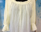 Peasant blouses, perfect costume piece for Renassance, Pirate, Victorian, Steampunk, 3 colors, Black, White and Cream, Ready To Ship