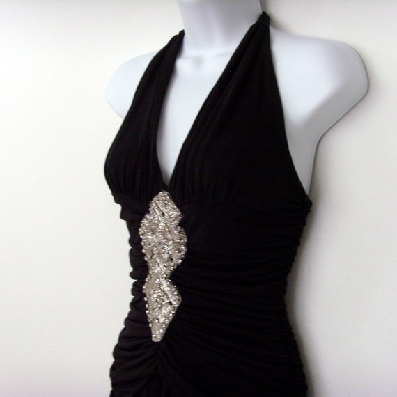 1980s evening gown cocktail party dress size 2 cache fashion