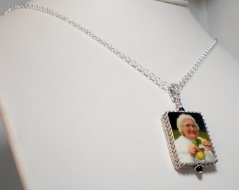 Photo Pendant Framed in Sterling - Large - FP1CfN
