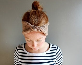 twisted knit headband in CUSTOM COLOUR (vegan friendly)