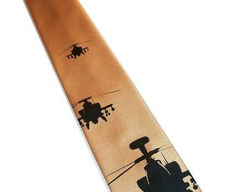 RokGear Military print - Men Military helicopter tie necktie custom colors to select from