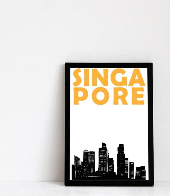 Singapore Print // Skyline Print