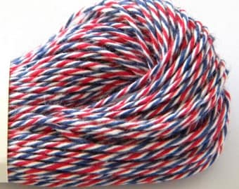 Air Mail Baker's Twine, Red, White, Blue, 25 yards or 75 feet, Divine Whisker Graphics