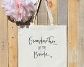 Grandmother of the Bride Bridal Familily Gift Wedding Tote Bag
