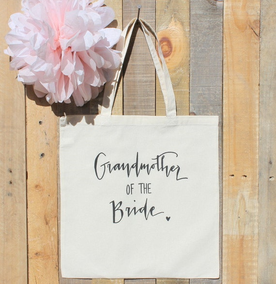 Grandmother of the Bride Bridal Familily Gift Wedding Tote Bag