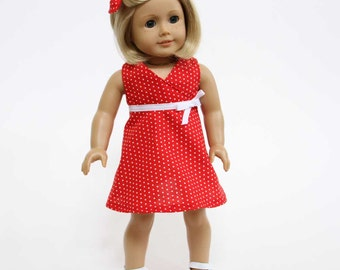 Sweet and Sunny Doll Dress Sewing Pattern PDF - Fits 18-inch Dolls
