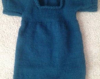 French Knit Baby Romper Pattern PDF