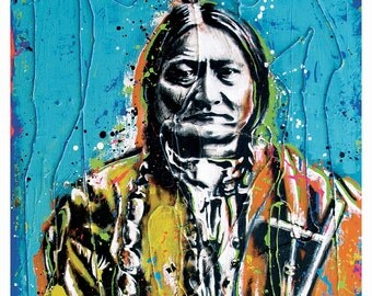 Sitting Bull - 18 x 24 High Quality Art Poster