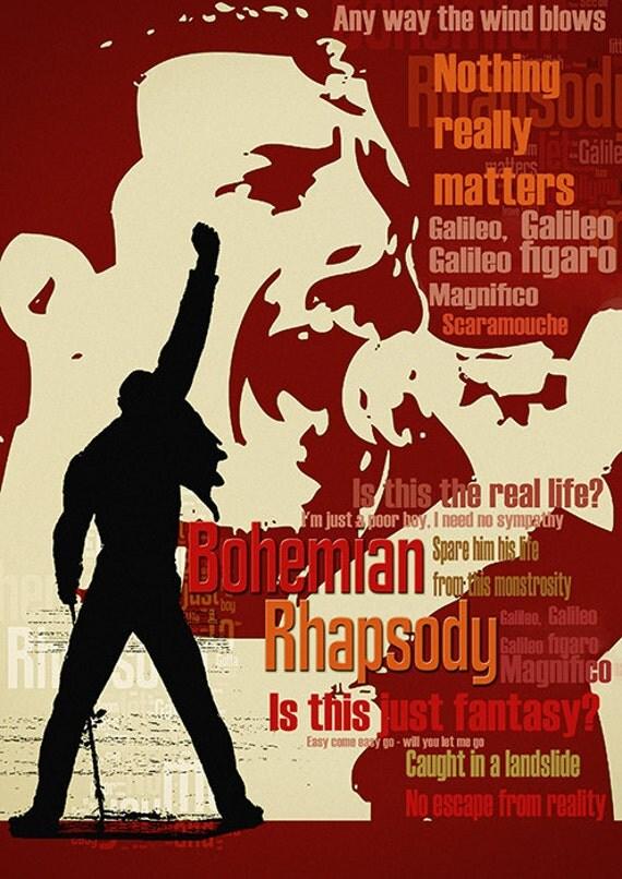 Items Similar To Print Freddie Mercury Queen Music Poster