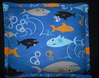 Corn Bag Heating Pad, Heat Pack, Microwavable Corn Pillow for Children - Shark Fabric