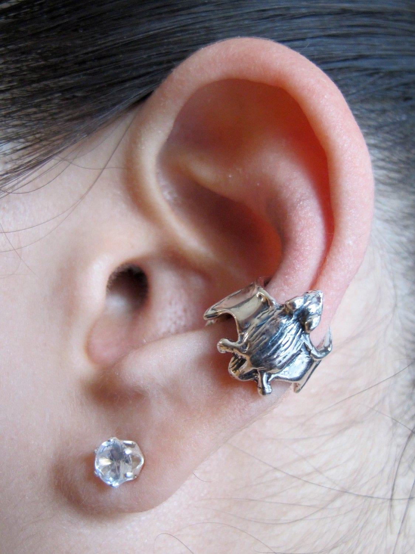 bat ear cuff silver bat ear wrap silver ear cuff bat jewelry. Black Bedroom Furniture Sets. Home Design Ideas