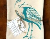 Blue Heron Flour Sack Towel