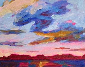 Coastal Landscape Sunset - Giclee Print