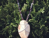 Reserved- Crazy Horse. Wire Wrapped Arrowhead Necklace