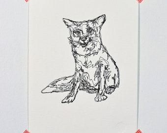 Fox - Letterpress Print