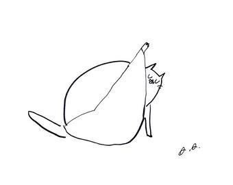 Cat Bath- Illustration- Cat Print