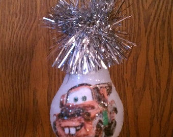 Mater keepsake light bulb ornament