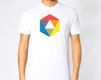Men's Rainbow Shirt, Color Wheel Shirt, colorful graphic tee art, rainbow shirt, mens t shirts, rainbow tshirt, gay pride, gift for him,