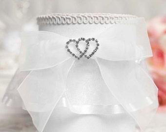 Rhinestone Hearts Wedding Garter - 50335