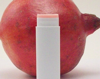 Pomegranate Lip Balm  - Pink Tinted Lip Care - Lip Primer - Natural and Organic Skin Care - Bath and Beauty