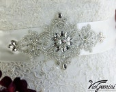 Wedding Sash Belt Vintage, Bridal Belt Vintage, Bridal Belt , Wedding Sash Belt, Rhinestone Sash Belt, Crystal Sash, Crystal Wedding Sash