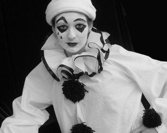 Costume, Adult, Authentic Pierrot, Halloween Mardi Gras Theater