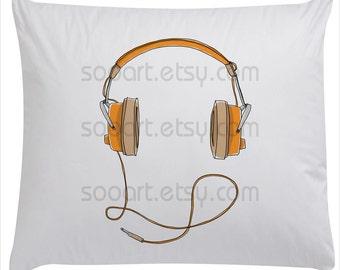 headphones vintage -Digital Image Sheet -SooArt Size A4 Print on Pillows, t-shirts, scrapbook, lampshades  ETC.v