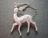 Cute Little Doe Deer Fawn Brooch