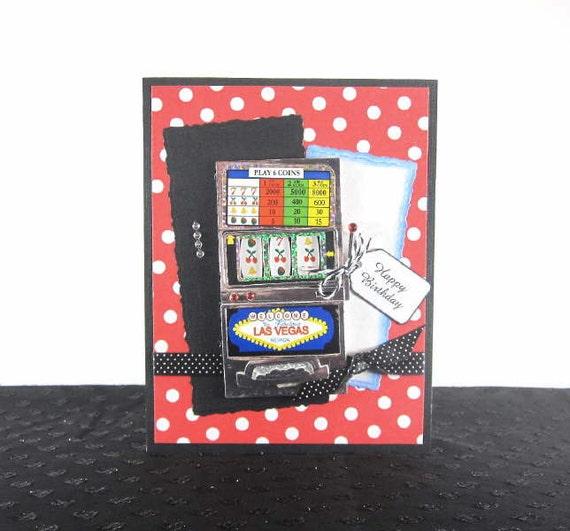 Slot machine Birthday card, gambling, feminine, female, woman, women