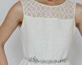 Bridal Sash, Wedding Floral Sash , Bridal Dress Sash Belt , Narrow Wedding Sash ,Antique Silver Bridal Sash , Rhinestone Bridal Sash