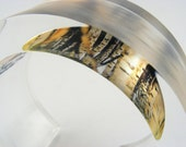 If you go down to the woods today .... Acrylic Bangle Woodland Trees, Sample 2nd