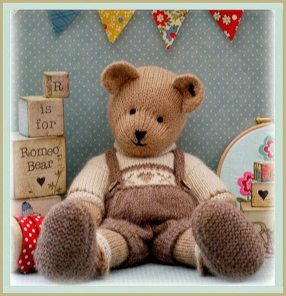 ROMEO Bear / Teddy Bear Knitting Pattern/ PDF/ Plus Free Handmade Shoes Knitting Pattern/ INSTANT Download