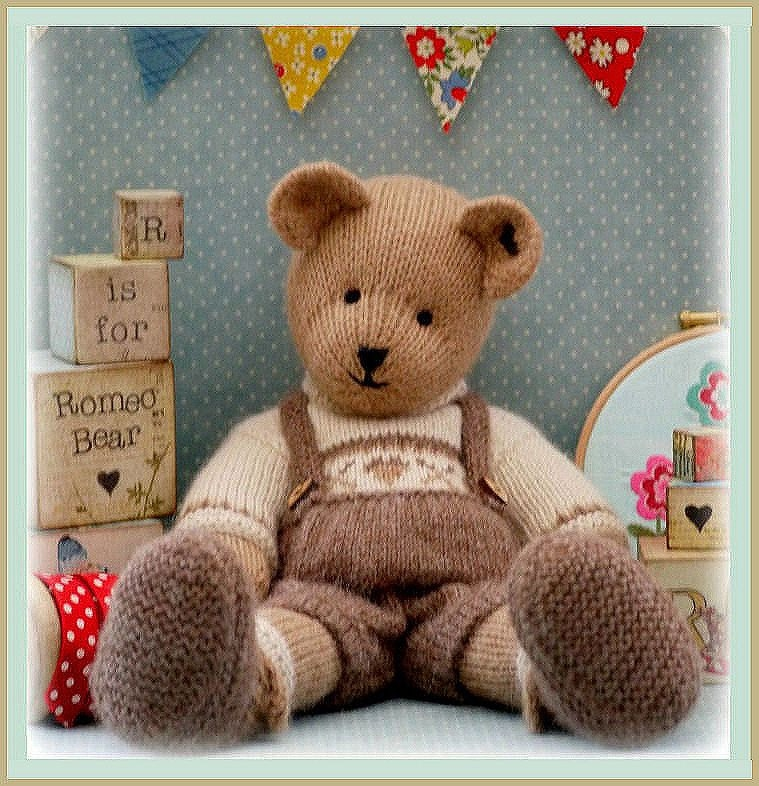 ROMEO Bear / Teddy Bear Toy Knitting Pattern/ by maryjanestearoom