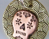Sugar Skull Dog Tag - Pet Tag - Day of the Dead - Dog ID Tag - Pet Accessories - Custom - Hand Stamped - Personalized