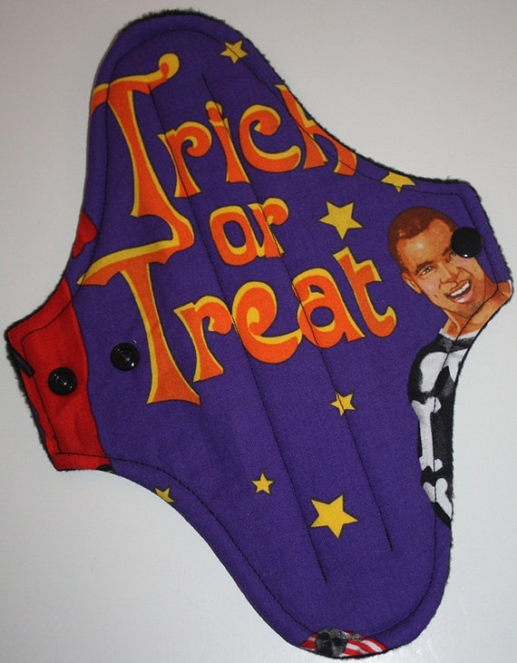 Purple Trick or Treat Reusable Cloth Maxi Pad