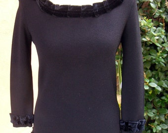 Women's XS Upcycled Pullover Sweater - Saturday Night Date