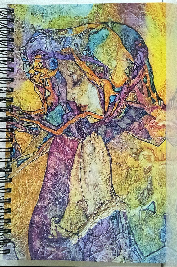 SILENT PRAYERS  Lynne French Art Journal Diary 80 Pgs.Spiral Bound
